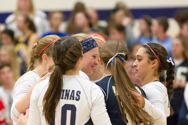 """2016-10-13 Aquinas Volleyball vs Logan """"2017 Seniors"""""""
