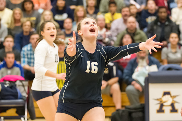 2016-10-22 Aquinas Volleyball vs Westby Regionals