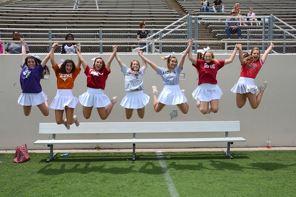 2016: LHHS Cheerleaders Before the Red and White Game