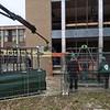 2015 - 18 maart - Beglazing op de zuidflank van de school.