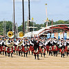 Don Knight | The Herald Bulletin<br /> The Anderson High School Marching Highlanders march onto the track to perform at State Fair Band Day on Saturday.