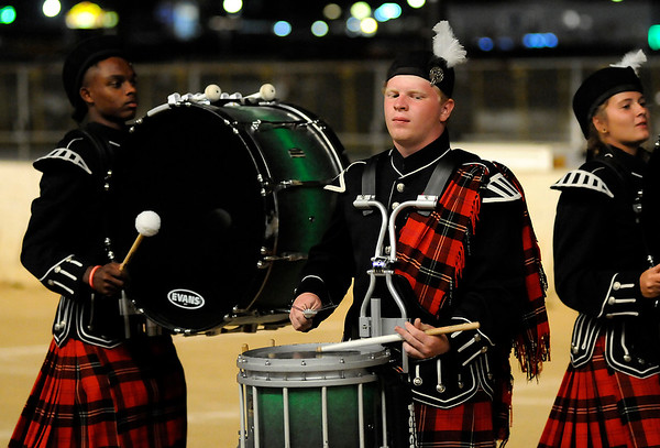 Don Knight | The Herald Bulletin<br /> Anderson performing in the night show at State Fair Band Day on Saturday.