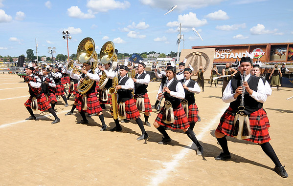Don Knight   The Herald Bulletin<br /> Anderson at State Fair Band Day on Saturday.