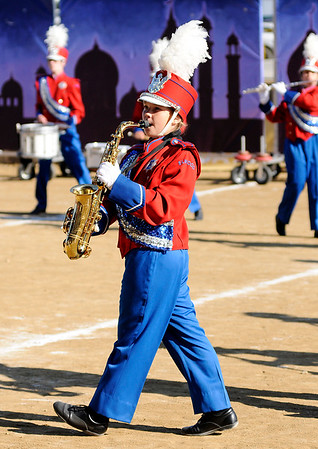 Don Knight   The Herald Bulletin<br /> Elwood at State Fair Band Day on Saturday.