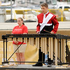 Don Knight | The Herald Bulletin<br /> Collin Riley performs with the Frankton Marching Eagles at State Fair Band Day on Saturday.