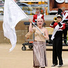 Don Knight | The Herald Bulletin<br /> Color guard member Camrie Brissenden performs with the Frankton Marching Eagles at State Fair Band Day on Saturday.