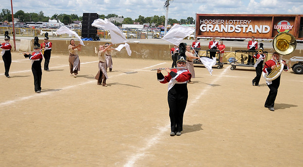 Don Knight   The Herald Bulletin<br /> Frankton at State Fair Band Day on Saturday.