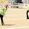 "Don Knight | The Herald Bulletin<br /> The Marching Bulldogs color guard dances to hits from Queen during the band's ""Bohemian Rhapsody"" show at State Fair Band Day on Saturday."