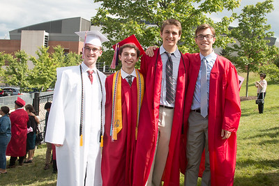 Derek Lamb, Noah Friedlander, Cole Sebastian, and Jack Russ  -- June 6, 2017 graduation from Montgomery Blair High School - Magnet Program for Math, Science, and Computer Science, Xfinity Center, University of Maryland, College Park.