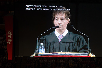 Congressman Jamie Raskin (D-MD) delivers the keynote address -- Noah Friedlander - June 6, 2017 graduation from Montgomery Blair High School - Magnet Program for Math, Science, and Computer Science, Xfinity Center, University of Maryland, College Park.