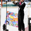 Don Knight | The Herald Bulletin<br /> Alexandria's Beatles inspired show included multiple solos at State Fair Band Day on Friday.