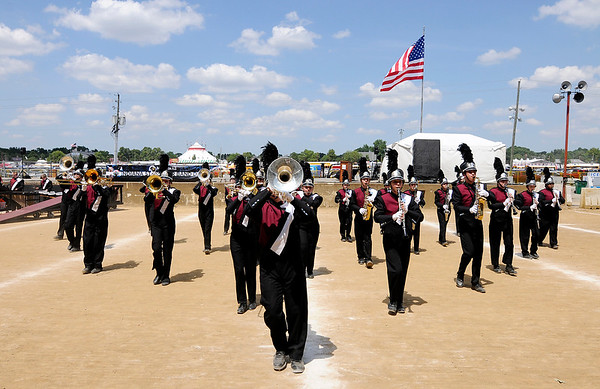 Don Knight | The Herald Bulletin<br /> The Alexandria's band competes at State Fair Band Day on Friday for the first time since 1997.