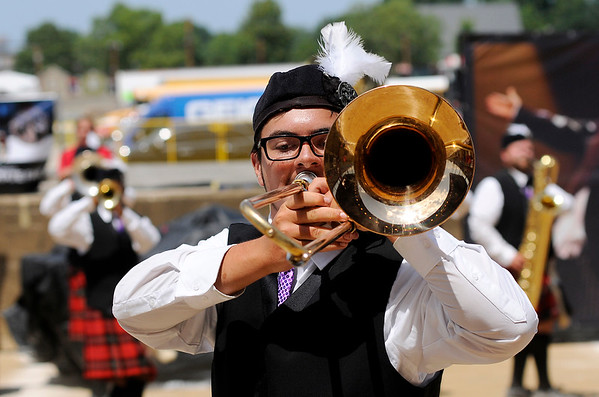 Don Knight   The Herald Bulletin<br /> State Fair Band Day on Friday.