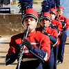 Don Knight | The Herald Bulletin<br /> Lexie Edwards performs with the Elwood band during State Fair Band Day on Friday.