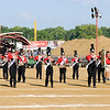 Don Knight | The Herald Bulletin<br /> Frankton marches onto the field to compete in State Fair Band Day on Friday.