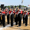 "Don Knight | The Herald Bulletin<br /> Frankton performs their show ""A Million Dreams"" during State Fair Band Day on Friday."