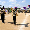 "Don Knight | The Herald Bulletin<br /> Lapel performs their show ""Alien Invasion"" at State Fair Band Day on Friday."