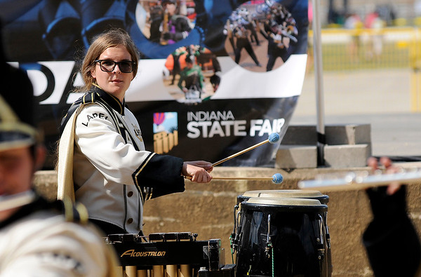 Don Knight | The Herald Bulletin<br /> Genevieve Trese performs with Lapel during State Fair Band Day on Friday.