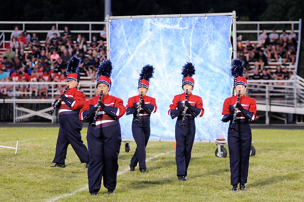 Don Knight   The Herald Bulletin<br /> Anderson High School hosted the Tartan Tournament of Bands at Highland Middle School on Friday.