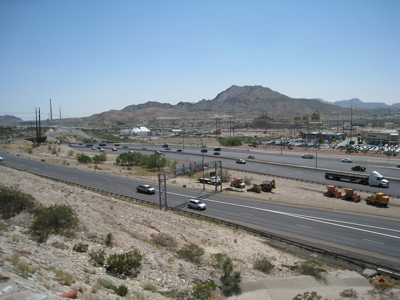 I-10 and Mt. Cristo Reyes as seen from the parking lot of Sunland Park Mall.