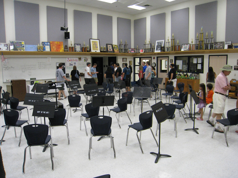 The new orchestra room at Coronado