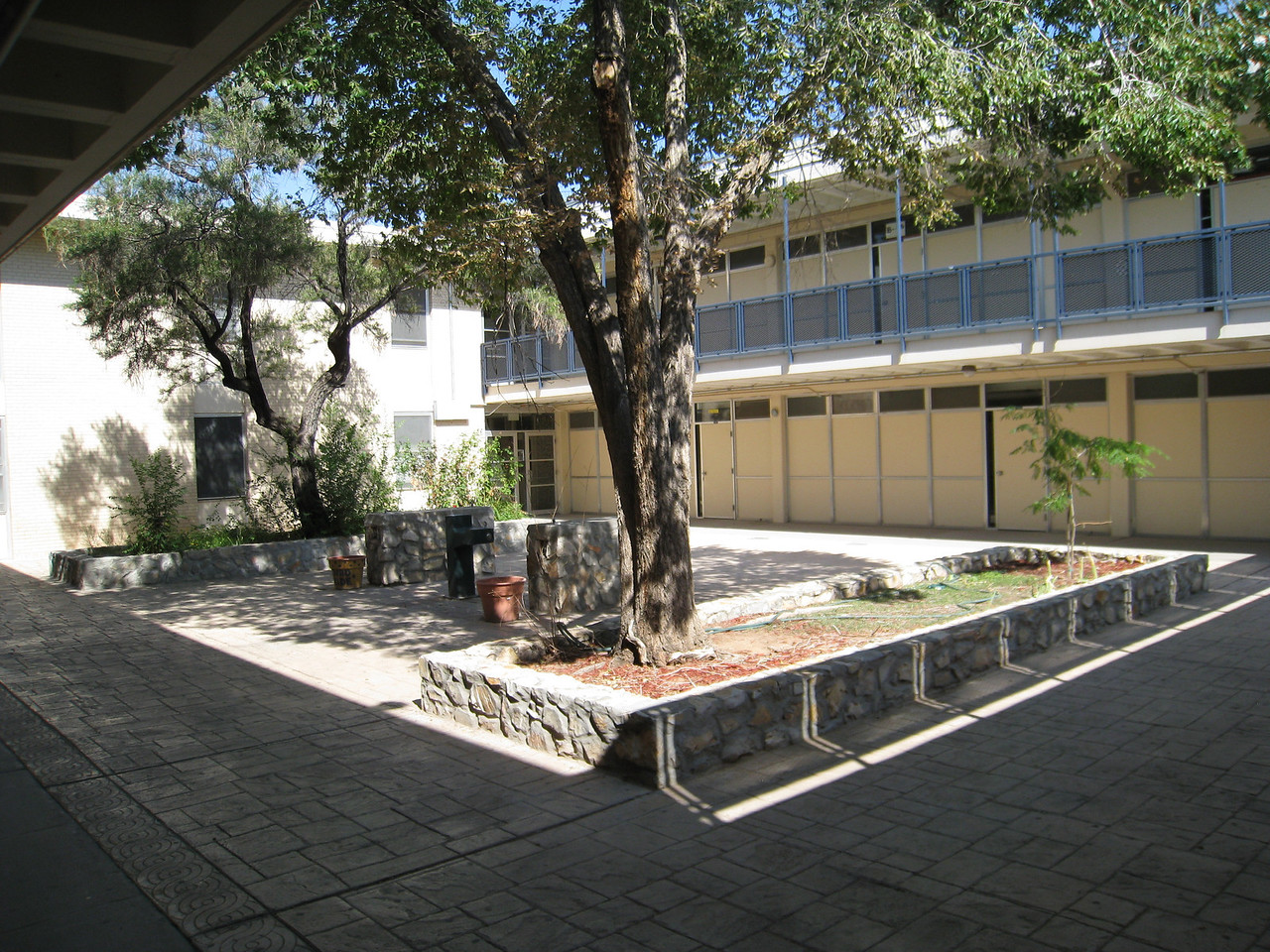 Courtyard in B building