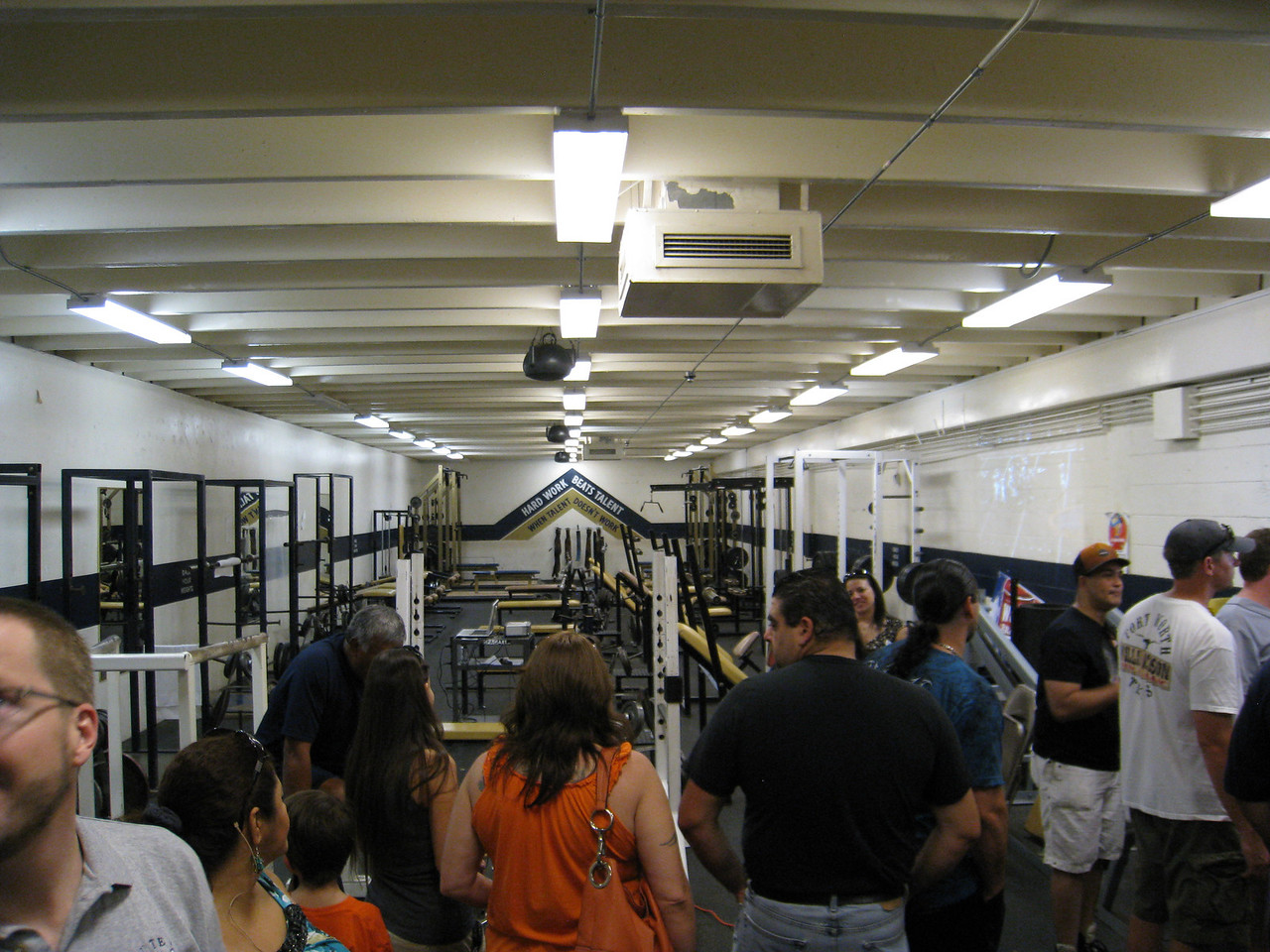The football weight room at Coronado
