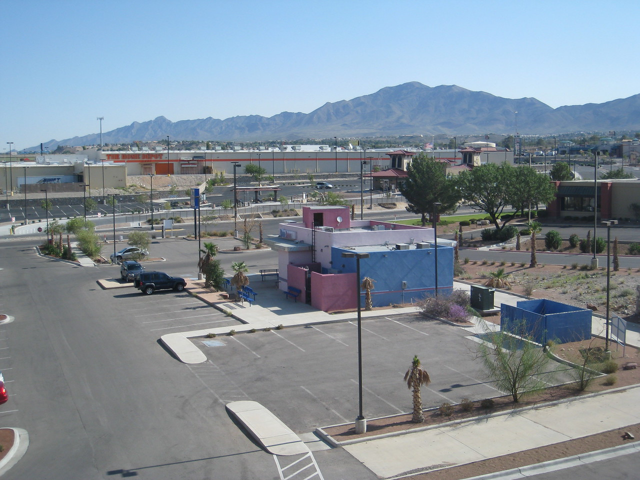 View from our hotel near Mesa St. and I-10.