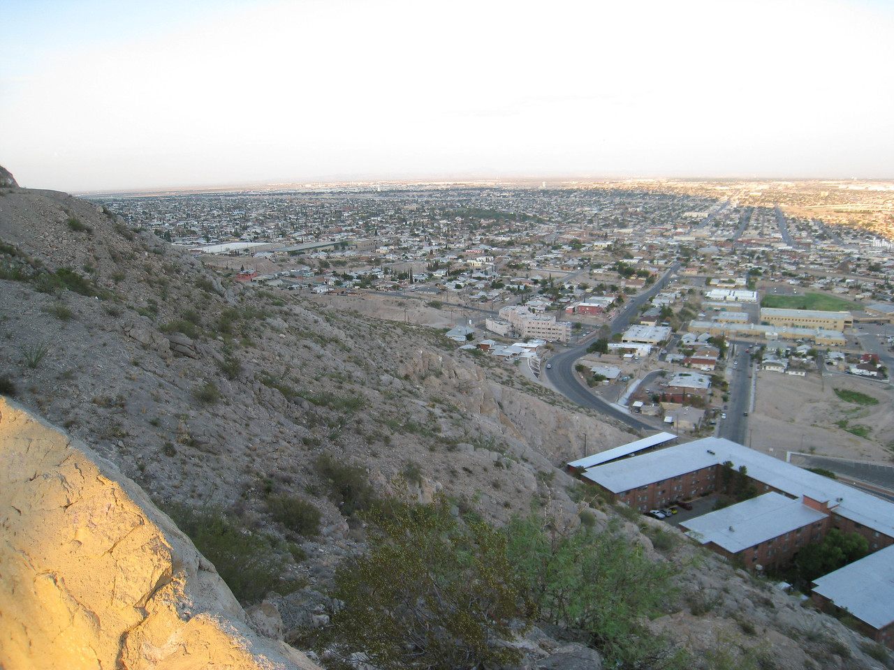 View of east El Paso from Scenic Drive