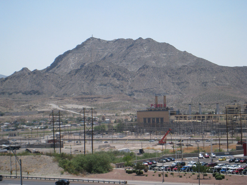 Mt. Cristo Reyes as seen from the parking lot of Sunland Park Mall.