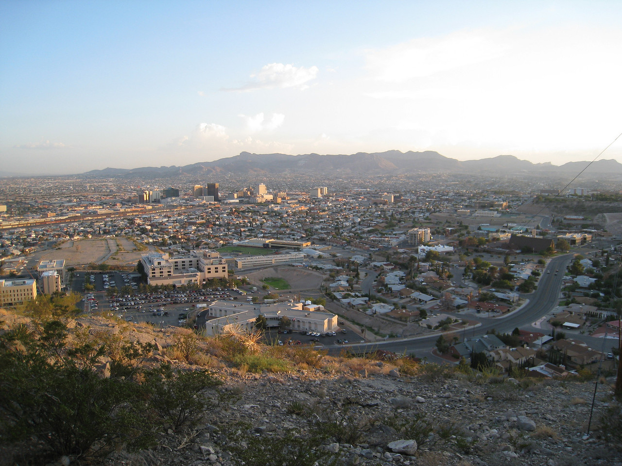View from Scenic Drive - east El Paso