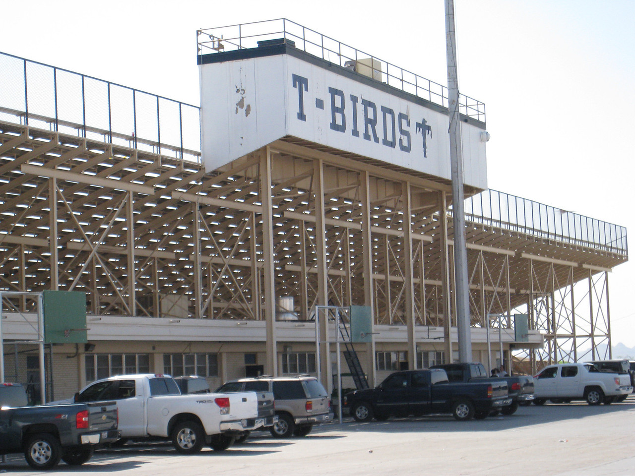 The back of the football stadium at Coronado.