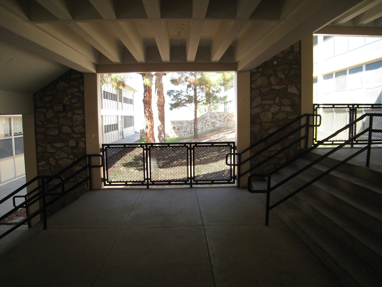 In between A and B buildings at Coronado