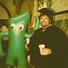 Gumby & Fauster share a Coke & a smile at Graduation - June 1988.