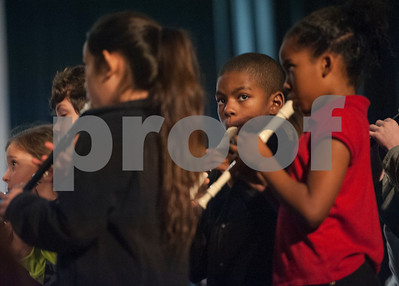 Students performs with the East Texas Symphony Orchestra during the annual Link Up concert at Caldwell Auditorium on Tuesday Feb. 13, 2018. Over 3,400 fourth and fifth grade students from TISD and other schools attended the concert.   (Sarah A. Miller/Tyler Morning Telegraph)