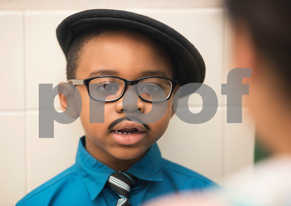 Clarkson Elementary School student Zaidyn Taggerty, 6, portrays Dr. Martin Luther King, Jr. during the Black History Living Museum at the school Friday Feb. 17, 2017. More than 70 students participated in the event, dressing in costume as historic African Americans and reciting short speeches to their peers and visitors at the school.  (Sarah A. Miller/Tyler Morning Telegraph)