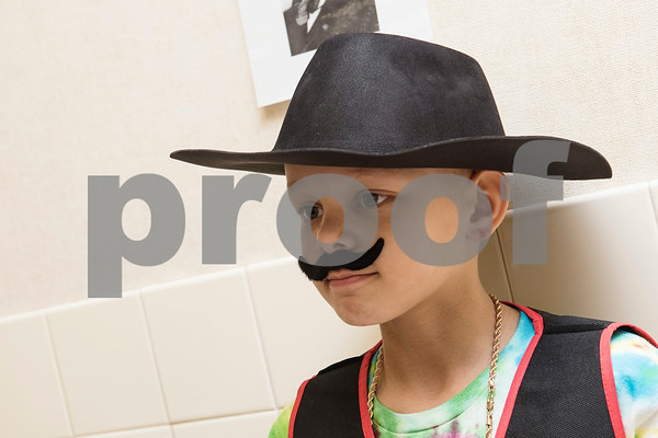 Clarkson Elementary School student Jayson Denman, 9, portrays Bass Reeves, one of the first black Deputy U.S. Marshals, during the Black History Living Museum at the school Friday Feb. 17, 2017. More than 70 students participated in the event, dressing in costume as historic African Americans and reciting short speeches to their peers and visitors at the school.  (Sarah A. Miller/Tyler Morning Telegraph)