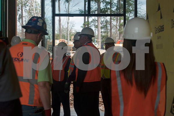 Construction goes on at the Soules College of Business, a newly named business building which is still under construction on Monday Feb. 19, 2018 at the University of Texas at Tyler.  (Sarah A. Miller/Tyler Morning Telegraph)