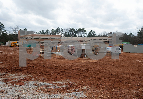 A parking garage is being built adjacent to the newly named Soules College of Business. on the campus of the University of Texas at Tyler on Monday Feb. 19, 2018.   (Sarah A. Miller/Tyler Morning Telegraph)