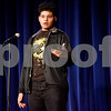 Kole Adkins performs a monologue during John Tyler High School's Celebrate Black History Month at Caldwell Auditorium in Tyler, Texas, on Tuesday, Feb. 20, 2018. Students performed songs in choirs and in a jazz band as well as monologues. (Chelsea Purgahn/Tyler Morning Telegraph)