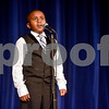 Jonathan Martin performs a Martin Luther King Jr. compilation during John Tyler High School's Celebrate Black History Month at Caldwell Auditorium in Tyler, Texas, on Tuesday, Feb. 20, 2018. Students performed songs in choirs and in a jazz band as well as monologues. (Chelsea Purgahn/Tyler Morning Telegraph)