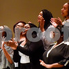 John Tyler's choir performs during John Tyler High School's Celebrate Black History Month at Caldwell Auditorium in Tyler, Texas, on Tuesday, Feb. 20, 2018. Students performed songs in choirs and in a jazz band as well as monologues. (Chelsea Purgahn/Tyler Morning Telegraph)