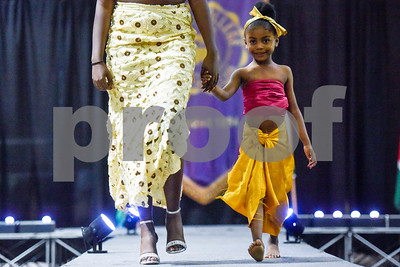 Models walk down the catwalk during the African Fashion Show at Texas College in Tyler, Texas, on Wednesday, Feb. 28, 2018. The fashion show was held as part of Texas College's International Student Association Week. (Chelsea Purgahn/Tyler Morning Telegraph)