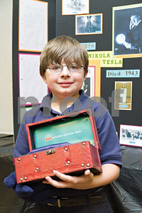 Photo by Shannon Wilson / Tyler Morning Telegraph Micah Wheatman wins third place at the Invention Convention with his invention of Bite Proof Gloves.