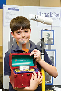 Photo by Shannon Wilson / Tyler Morning Telegraph Grayson Murry wins second place with his invention of the Highroller at the Invention Convention.