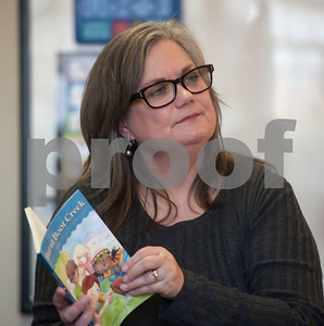 Author and member of the Ladies Book Study from Redeemer Presbyterian Church Bridgette Booth talks about book publishing to second graders at Promise Academy in Tyler on Friday March 9, 2018.   (Sarah A. Miller/Tyler Morning Telegraph)