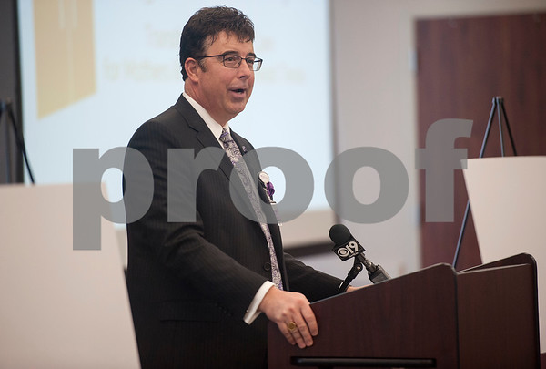 Chris Glenney, CEO of CHRISTUS Trinity Mother Frances Health System announces an expansion of the Neonatal Intensive Care and Labor and Delivery Units at Christus Mother Frances Hospital – Tyler during a press conference on Thursday March, 1, 2018.  (Sarah A. Miller/Tyler Morning Telegraph)