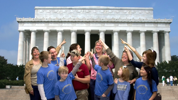 Green screen transport to the field trip spot of their choice....  Lincoln Memorial!