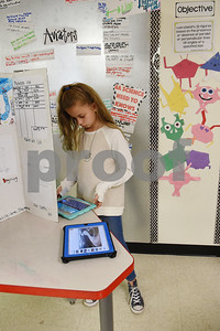 Lily Burgess, 9, works in her science class at the University of Texas at Tyler Innovation Academy Tuesday March 7, 2017. The Innovation Academy is a public university Charter School that prepares its students to enroll in a STEM (science, technology, engineering, and math programs) major at in college.  (Sarah A. Miller/Tyler Morning Telegraph)