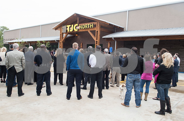 Visitors attend the grand opening of TJC North Campus at The Cannery development in Lindale on Tuesday March 29, 2017. The 8,500 square-foot campus will host general education courses, nursing programs and the school's new veterinary technician program.  (Sarah A. Miller/Tyler Morning Telegraph)